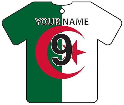 Personalised Algeria Flag Jersey Car Air Freshener