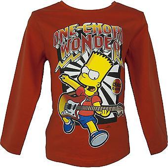 Bart Simpson Boys Long Sleeve T-Shirt
