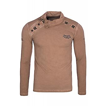 Tazzio fashion Emimay shirt men's long-sleeved brown sweater