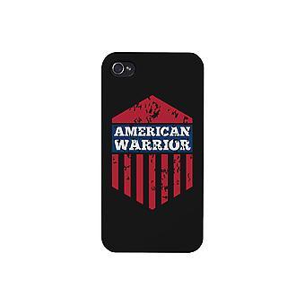 Amerikanska Warrior svart telefon fallet