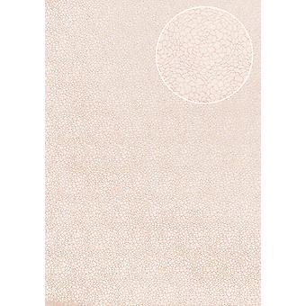 Flowers wallpaper Atlas ATT-5089-4 non-woven wallpaper smooth with floral ornaments shimmering cream creamy white Rosé 7,035 m2