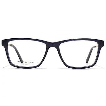 Kurt Geiger Susan Rectangular Acetate Glasses In Navy