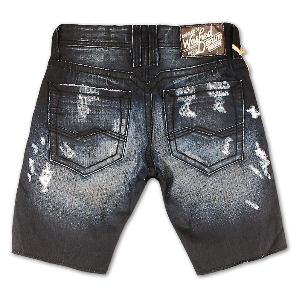 Rivet De Cru Blue Graphite Denim Shorts