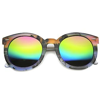 Unisex Oversized Sunglasses With UV400 Protected Mirrored Lens