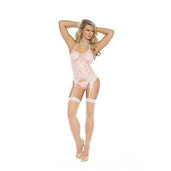 Elegant Moments  EM-1152 Three piece set Lace camisette g-string and stocking