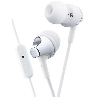 JVC Premium Sound słuchawki douszne z pilotem i mikrofonem - biały (HAFR325W)