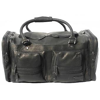 Cortez Leather Travel Bag - Black