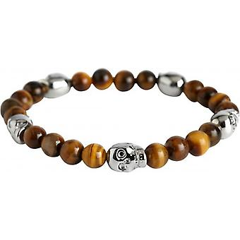 Simon Carter Tigerseye Skull Bead Bracelet - Brown