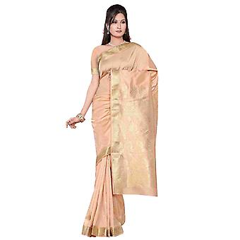 Oro - Benares arte seda Sari / sari/Bellydance tela (India)