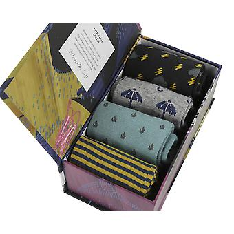 Storm Gift Box by Thought | 4 pairs of women's soft bamboo crew socks