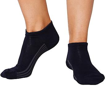 Jane women's super-soft bamboo ankle socks in navy | By Thought