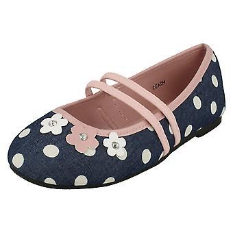 Flickor Spot på platta blommig Ballerina skor H2431