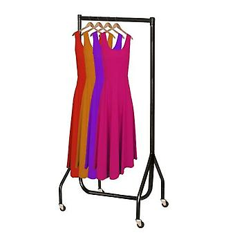 2ft Black Heavy Duty Steel Clothes Rail 61x155x50cms by Caraselle