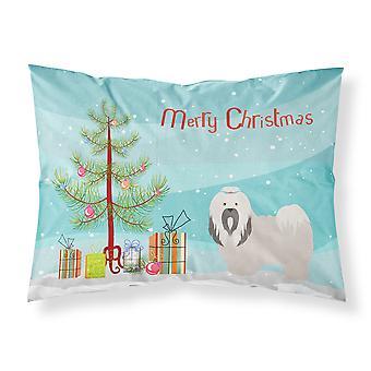 Lhasa Apso Christmas Fabric Standard Pillowcase