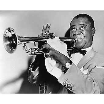 Louis Armstrong 1953 Poster Print von McMahan Foto-Archiv (10 x 8)