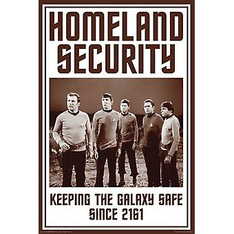Star Trek - Homeland Security affisch affisch Skriv