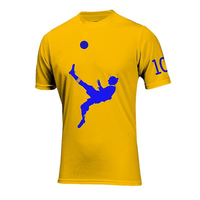 Zlatan Ibrahimovic Bicycle Kick Goal T-Shirt (Geel)
