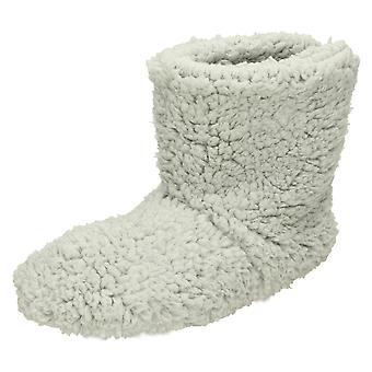 Ladies Eaze Fluffy Bootee Slippers X2045