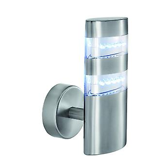 Satin Silver 24 LED vägg utomhus armatur - Searchlight 5308