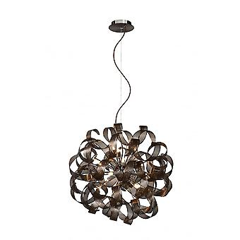Lucide ATOMA Pendant 60cm 5xG9excl Rust