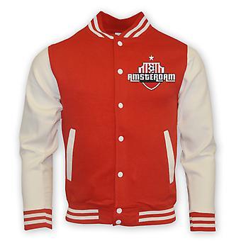 Ajax College Baseball jakke (rød)