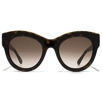 Stella McCartney Falabella Bold Chain Cateye Sunglasses In Havana