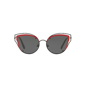Valentino Metal Wire Cateye Sunglasses In Ruthenium Grey