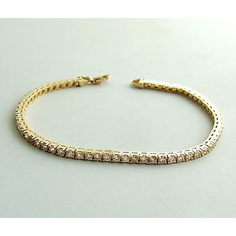 Christian Gold Bracelet with cubic zirconia