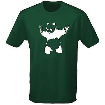 Banksy Panda Guns Graffiti Mens T-Shirt 10 kleuren (S-3XL) door swagwear