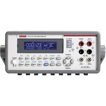 Banco de Multímetro Digital Keithley 2110-240 calibrado a: las normas del fabricante (no certificado) CAT II 600 V e