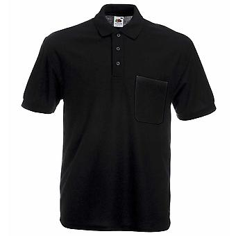 Fruit of the Loom Pique Pocket Polo Shirts
