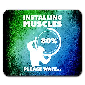 Muscle Gym Fitness Sport  Non-Slip Mouse Mat Pad 24cm x 20cm | Wellcoda