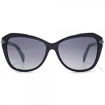 Just Cavalli Cateye Sunglasses In Shiny Black