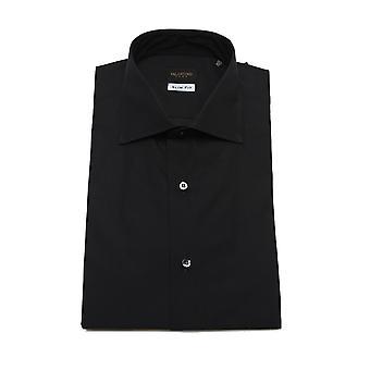 Valentino Men's Cotton Dress Shirt Black Dotted