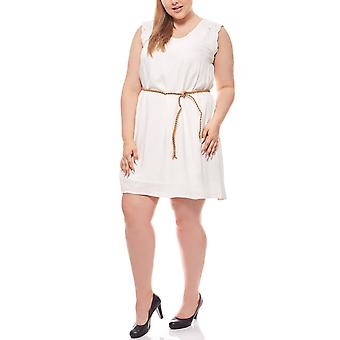 knee-length Jersey dress plus size white b. young lace detail