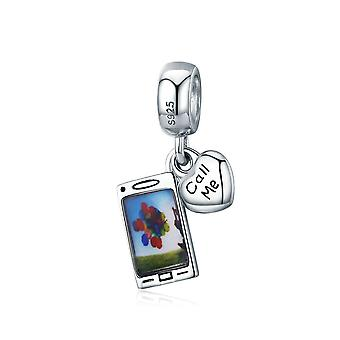 Sterling silver pendant charm Mobile phone SCC667