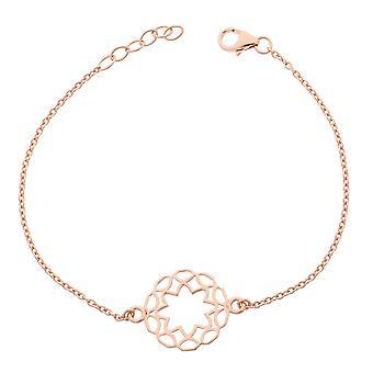 Orphelia Silver 925 Bracelet Rose Center Circle  ZA-7076/1