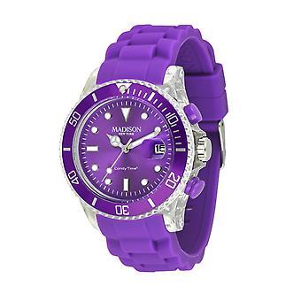 Candy time by Madison N.Y.. watch unisex U4399-01-1 dark purple Flash