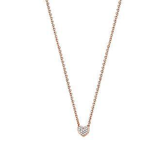 Esprit Damen Kette Collier Silber Rosé Zirkonia Petite ESNL92942C420