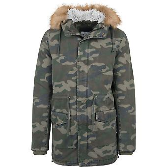 Urban classics jacket parka garment washed Camo
