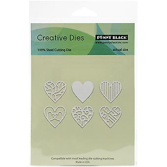 Penny Black Creative Dies-All My Hearts, 1