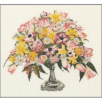 Spring On Aida Counted Cross Stitch Kit-17.5