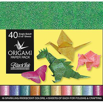 Origami Paper Pack-Iridescent 40 Sheets
