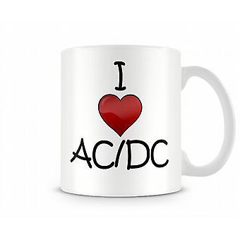 AC / DC Printed J'aime la tasse