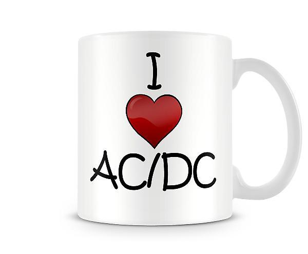 I Love AC/DC Printed Mug
