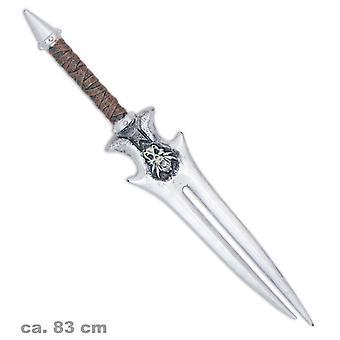 Matador de dragões gêmeos espada 83cm acessório cavaleiro Viking