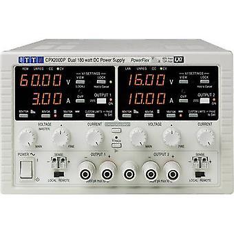 Sikte TTi CPX200D benk PSU (justerbar spenning) 0 - 60 Vdc 0 - 10 A 360 W nr. av utganger 2 x