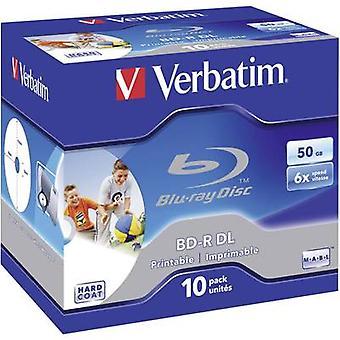 Verbatim 43736 lege Blu-ray BD-R DL 50 GB 10 PC (s) Jewel case afdrukbare