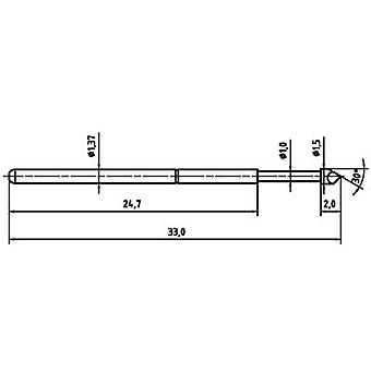 PTR 1025/E-H-1.5N-AU-1.5 Precision test tip