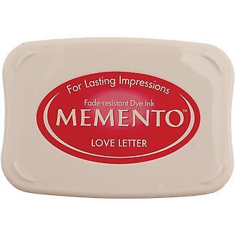 Memento Dye Ink Pad-Love Letter
